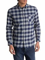 QUIKSILVER MENS CHECK SHIRT.MOTHERFLY FLANNEL LONG SLEEVED CHECKED 7W 3573 BTE