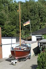 Sommerschnäppchen Teakholz Motorsegler / Segelboot plus Hafentrailer