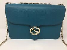 GUCCI AUTH GG INTERLOCKING SHOULDER CHAIN BAG BNWT LUXURY WOMAN MADE IN ITALY