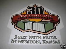 Hesston Baler 30 Year Anniversary Decal - Collectible