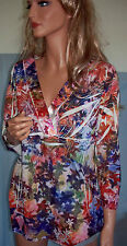 NWOT M L  Simply Irresistible Multi-Color Pullover Blouse Tunic Top Shirt