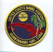 NAVSTA NAVAL STATION GUANTANAMO BAY CUBA US Navy Base Squadron Jacket Patch