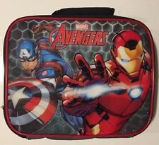 Marvel Avengers Captain America School Lunch Bag Insulated Box Snack Bag NWT