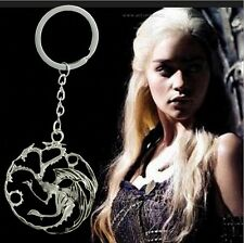 GAME OF THRONES SONG FIRE & ICE KEYRING TARGARYEN +GIFT POUCH KEYCHAIN CHRISTMAS