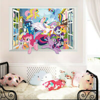 3D My Little Pony Wall Decals Kids Room Home Decor Removable Wall Stickers