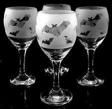 More details for bat gift wine glasses set of 4