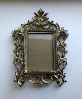 •EUC• Vintage Cast Iron Antique - Ornate Picture Frame •French Rococo Style•