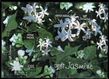 India 2008 MNH SS, Scented, Fragrance Odd Unusual Sheet, Jasmine, Flower, Plant