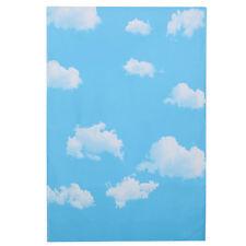 Blue Sky White Cloud Vinyl Photography Backdrop Background Studio Props 3X5FT
