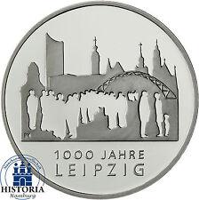 Deutschland 10 Euro Gedenkmünze 2015 bfr. 1000 Jahre Leipzig in Münzkapsel