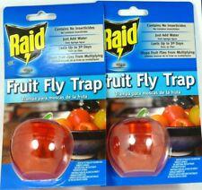 Lot of (2) RAID FFTA-RAID Apple Fruit Fly Trap, Just add Water and Soap