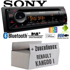 Autoradio Sony Bluetooth DAB+ CD/MP3/USB Voiture Montage pour Renault Kangoo 1