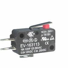 4 Stück MIKROSCHALTER 250VAC 16A EV-163113 ECE kurzer Hebel hochw Industrieware