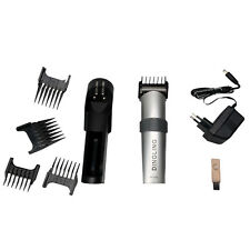 Pro 9PCS Rechargeable DINGLINg RF-609 Electric Hair Clipper Hair Cut Kit Silver