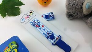 Sailor Mickey – Navy Blue - Hand Made - Dummy Clip - Pacifier Clips