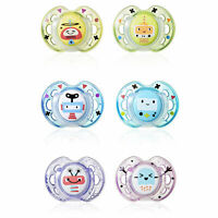Tommee Tippee - Set of 6 Styled Soothers 0 - 6 Months Dummies Dummy Baby