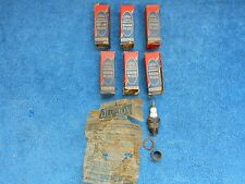 VINTAGE 30's FORD FLATHEAD  18MM 6 COM SPARK PLUGS SET OF ( 6 )  NOS FORD 1016
