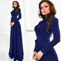 Women Vintage Chiffon Long Sleeve Boho Maxi Evening Party Cocktail Dress UTAR