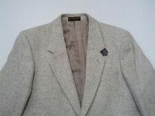 Egon  Von Furstenberg sports coat blazer with  gray suede elbow patches size 39