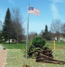 Osborn Models N Gauge * Set of 3 * AMERICAN FLAG & POLE * NEW Kit * Item RRA3094
