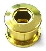 Set of Single Speed Track Fixie Fixy Chainring Bolts (5) Stud Anodized GOLD