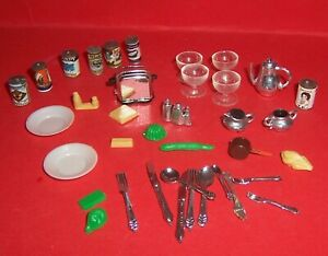 VINTAGE 1970's LUNDBY BARTON DOLLS HOUSE LOT OF KITCHEN ACCESSORIES
