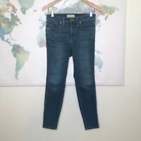 """Madewell 10"""" High Rise Skinny Jeans Size 27P Medium Wash Stretchy 25"""" Inseam"""