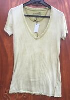 Free People green tshirt top size 10 New (fp24)