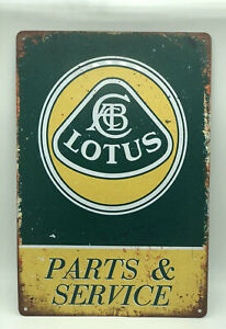 Garage Sign with Lotus Parts & Service