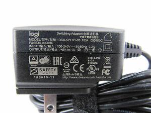GENUINE LOGITECH  V-U0029 ADAPTER DSA-5PFU1-05 FCA 050100C 5V 1A P/N 534-000694