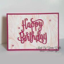 Cutting Dies Happy Birthday Metal  Stencil Embossing Scrapbooking Paper Card
