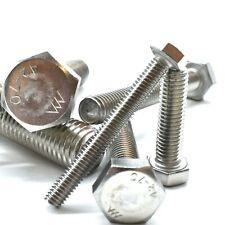 M12 (12mm) A2 STAINLESS STEEL FULLY THREADED BOLT SCREW HEXAGON HEX SET DIN933