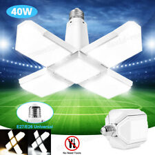 E27 LED Garage Light Bulb Deformable Ceiling Fixture Lights Workshop Lamp 40W