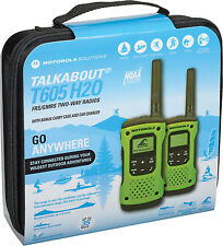 MOTOROLA Talkabout® T605 Waterproof Rechargeable Two-Way Radios, Green- 2 Pack