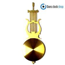 New Traditional Clock Pendulum Rod & Bob - 200mm Imitation Gold 75mm Bob