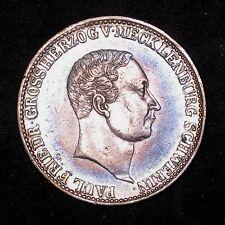 1840 German States Mecklenburg-Schwerin 2/3 Thaler silver KM# 288 high grade
