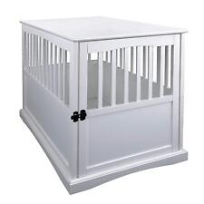 Casual Home 600-21 Wood Pet Crate End Table, Dog Kennel in White Finish New