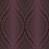 KISMET DAMASK GLITTER WALLPAPER PLUM GRANDECO A17705 - PURPLE NEW