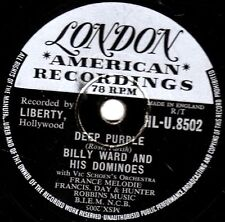 "DOO-WOP CLASSIC BILLY WARD 78 "" DEEP PURPLE / DO IT AGAIN ""  LONDON HLU 8502 VG+"