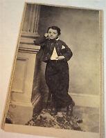 Antique American Civil War Era Dapper Fashion Little Boy! Springfield CDV Photo!