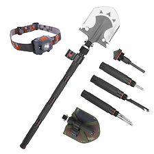 Multifunctional Military Folding Shovel Steel Spade Multitool knife for Camping