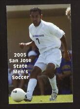 San Jose State Spartans--2005 Soccer Pocket Schedule