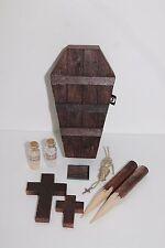 Vampire Killing Slayer Hunter Kit Coffin Halloween Buffy Twilight Handmade Brown