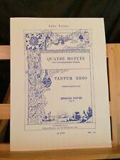 Marcel Dupré Tantum Ergo opus 9 n°3 voix et 2 orgues partition éditions Leduc