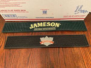 2 Different Bar Mats Smirnoff/Jameson Whiskey  Spill Mat