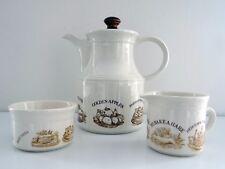 Biltons Vintage 1980s English Recipes Teapot Sugar Bowl Milk Jug Earthenware