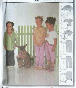 BURDA 9937 Toddlers/Childs Shirt Tops & Pants Sz 2 - 6  NEW/UNCUT