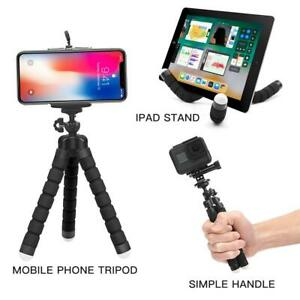 Flexible Octopus Tripod + Bracket Mount for Cell Phone, Camera, iPhone - Black