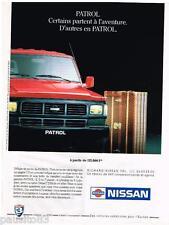 PUBLICITE ADVERTISING 095  1991  NISSAN  le PATROL