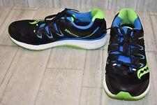 Saucony Triumph ISO 4 Running Shoes, Men's Size 10.5, Black/Blue/Lime